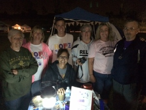 Yes we walk all night long fighting CANCER